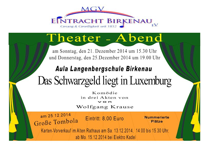 Theaterplakat 2014